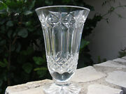 Waterford Crystal 10 Tall Balmoral Centerpiece Footed Vase Excellent Condition