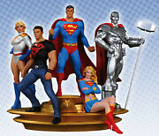 Superman Family Statue Part 1 And 2_superman_superboy_power Girl_steel_supergirl