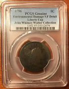 1796 1c- Vf Details Pcgs- Environmental Damage- Flowing Hair Large Cent