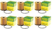 New Set Of 6 Engine Oil Filters Mann Hu8162x For Mini R52 R53 Cooper 02-08 1.6