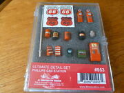 Phillips 66 Gas Station Ultimate Detail Set Ho-scale For Gas Stations And Realism