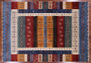 5' 7 X 7' 11 Hand Knotted Tribal Gabbeh Wool Rug - P9204