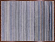 Savannah Grass Hand Knotted Wool And Silk Area Rug 9and039 X 12and039 - P9632