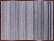 Gabbeh Savannah Grass Hand Knotted Wool And Silk Area Rug 9and039 0 X 11and039 11 - P9632