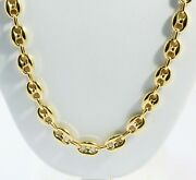39.80 Gm 14k Gold Yellow Menand039s / Womenand039s Puff Mariner Chain Necklace 28 9.5 Mm
