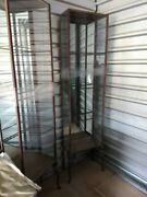 Vintage Metal Steel Cabinetand039s With Angel Legs Rare And Unusual