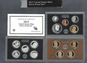 2012-s U.s. Mint Silver Proof Set...14 Coins...ogp/black And Silver Box...coa