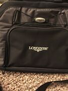 Longines Watch Advertise Computer Size Carry Bag Black Made By Gemline