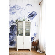 Royal Blue Vintage Wallpaper Large Flowers Floral Wall Home Decor Roll Mural