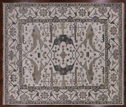8and039 3 X 9and039 9 Hand Knotted Turkish Oushak Area Rug - Q1528