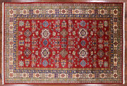 Hand Knotted Super Kazak Oriental Area Rug 6and039 X 9and039 - P8935