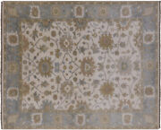 Hand Knotted Turkish Oushak Wool Rug 8and039 1 X 10and039 1 - P8322