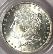 1887-s 1 Ms64 Pcgs-blast White Color-560 In Higher-morgan Dollar