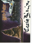 Harry Potter And The Sorcererand039s Stone Leslie Phillipsand039s Autographed Cardandnbsp