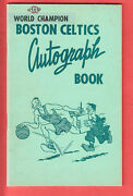 1958 Boston Celtics Team Issued Autograph Book W/ 24 Sketches...  Russell