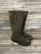 Womens Tall Ugg Boots Dark Brown Size 7
