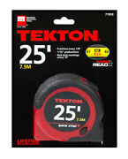 25 Ft. X 1 In. Tape Measure Rapid Read Quick Stop 1-inch X 25and039 Ft Measuring Tape