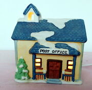 Vintage 6 1991 Post Office Light Christmas Holiday Village National Decorations