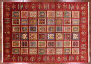 5and039 8 X 7and039 9 Garden Gabbeh Hand Knotted Wool Rug - P9879