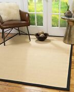 Handmade Wool Sisal Durable Eco Friendly Non-slip Solid Beige Majesty Area Rugs