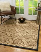 Hand Woven 100 Sisal Durable Eco Friendly Modern Multicolor Seattle Area Rugs
