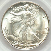 1942-d 50c Ms66 Pcgs/cac-only 302 In Higher Grades -walking Liberty Half Dollar