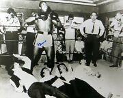 Muhammad Ali Signed Autographed 16x20 Photo Famous With The Beatles Oa