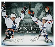 Wayne Gretzky And Connor Mcdavid Oilers Signed 20x24 Passion For Winning Photo