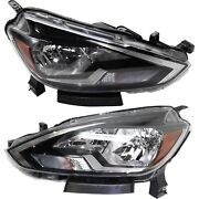Halogen Headlights Set Left And Right For 2016 2017 2018 Nissan Sentra S Fe+s Sv