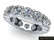 3.40ct Round Cut Diamond Shared Prong Eternity Band Ring 14k White Gold I Si2