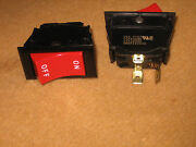 Qty 200 Eaton On/off Red Rocker Spst Switch 125vac 15a 3/4hp