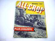 Allis Chalmers Uc Farm Tractor Brochure From The 1930and039s 16 Pages