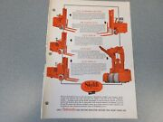 Old Automatic Skylift Forklift Sales Sheet, Various Pallet Trucks