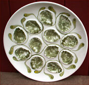 French Oyster Master Platter Server Dish Pornic Near Quimper 70and039s