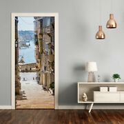 Self Adhesive Door Wrap Removable Peel And Stick Architecture Streets In Malta