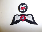 B1797 Ww 2 Oss Wing S F. And Sf Hq Patch Hand Embroidered On Wool C20a3