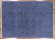 Overdyed Hand Knotted Wool Area Rug 7and039 3 X 10and039 4 - H9022