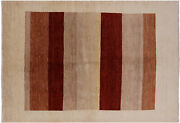 6and039 7 X 9and039 5 Gabbeh Hand-knotted Wool Area Rug - H6910