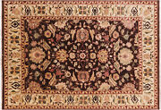 7and039 10 X 11and039 2 Signed Peshawar Flat Weave Handmade Rug - H9989