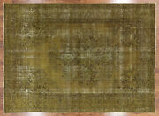 Overdyed Hand Knotted Area Rug 8and039 1 X 11and039 7 - P3877
