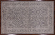 Peshawar White Wash Hand Knotted Wool Area Rug 5and039 10 X 9and039 3 - P4598