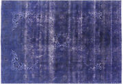 Hand Knotted Veg Dyed Overdyed Area Rug 6and039 8 X 9and039 8 - P3906