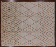 Moroccan Signed Handmade Wool Rug 8and039 3 X 9and039 9 - P5547