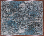 Modern Hand Knotted Wool And Silk Rug 8and039 3 X 10and039 0 - P8512