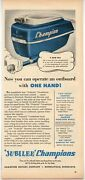 1953 Vintage Ad Champion Outboard Motors 5 Hp Operate With One Hand