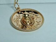 Vintage 14k Yellow Gold 3d Mexican Sombrero Hat Mexico Pendant Charm