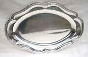 French Sterling Silver Large 18 Oval Dish A Aucoc Paris Mono Md Early 19th C