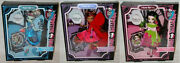 Monster High_scarily Ever After Exclusives_frankie Stein_draculaura_clawdeen_mib