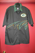 New Nfl Green Bay Packers Nascar Racing Style Slash Pit Crew Shirt Menand039s L