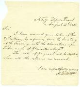 1835 Mahlon Dickerson Autograph Letter 7th Governor New Jersey Secretary Of Navy